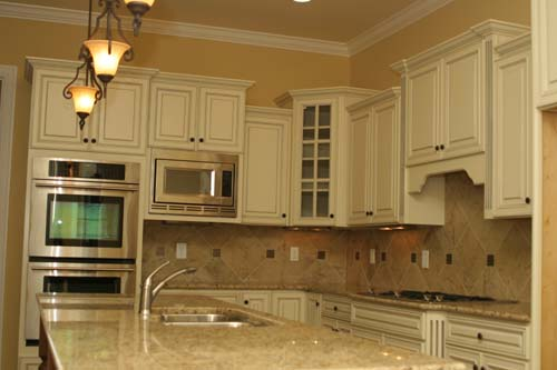 Cream Kitchen Cabinets With Chocolate Glaze kitchen cabinets white